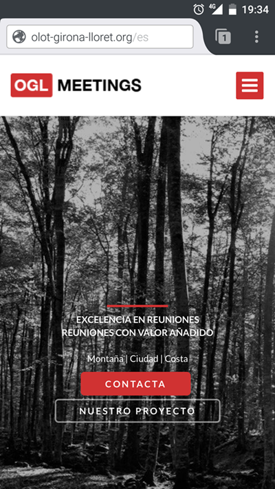 proyecto web para proyecto MICE Olot-Girona-Lloret